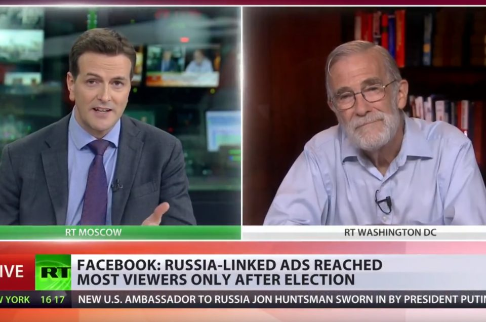 """Ray McGovern: The """"Russian attack on Facebook"""" falls apart.  But will the mainstream media confess?"""